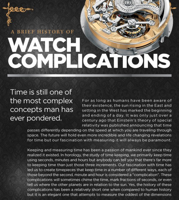 A Brief History of Watch Complications (Infographic)