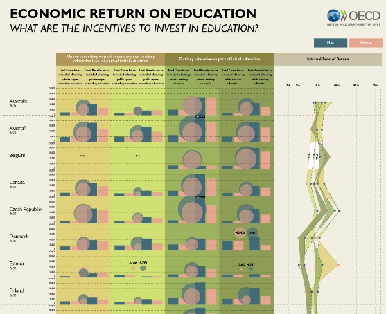 Economic return on education – What are the incentives to invest in education? (Infographic)