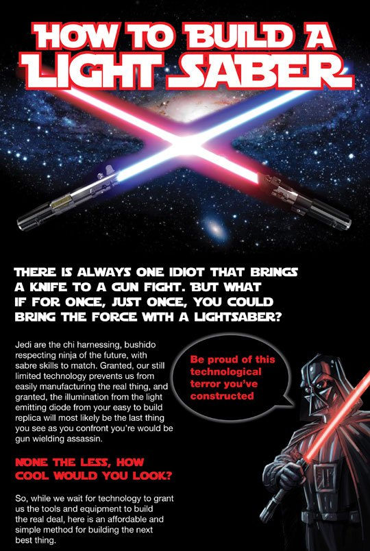 How To Build A Lightsaber (Infographic)