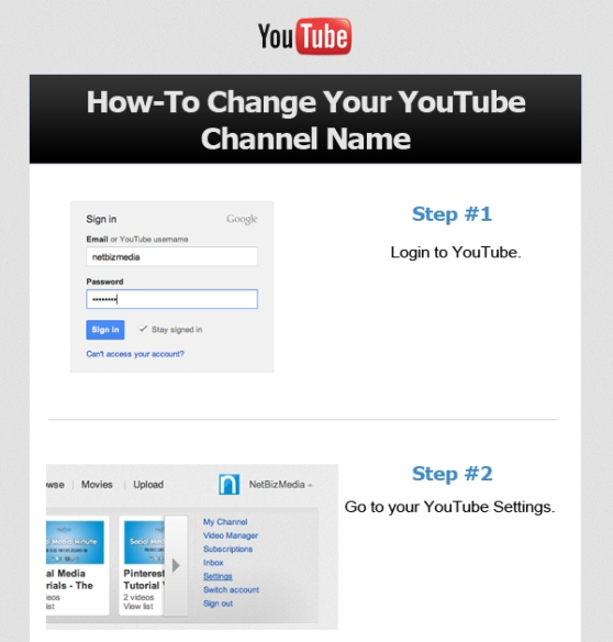 howto change your youtube channel name