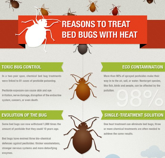 reasons to treat bed bugs with heat