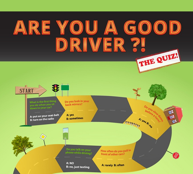 How good a driver are you? The Quiz (Infographic)