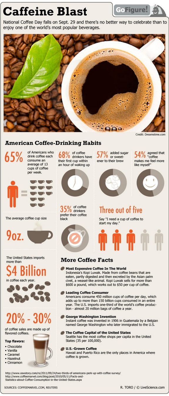 Top 10 Coffee Infographics