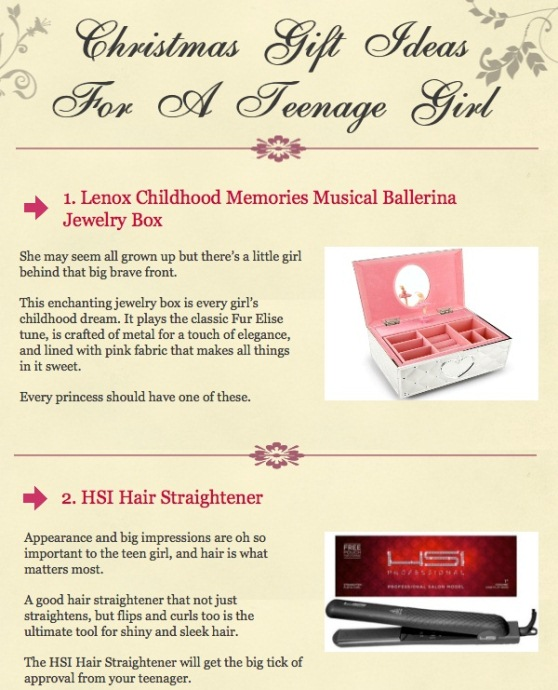 Christmas List Ideas For Teenage Girl.Top 5 Christmas Gifts Infographics