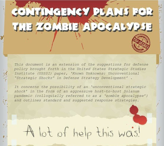 contingency plans for the zombie appocalypse