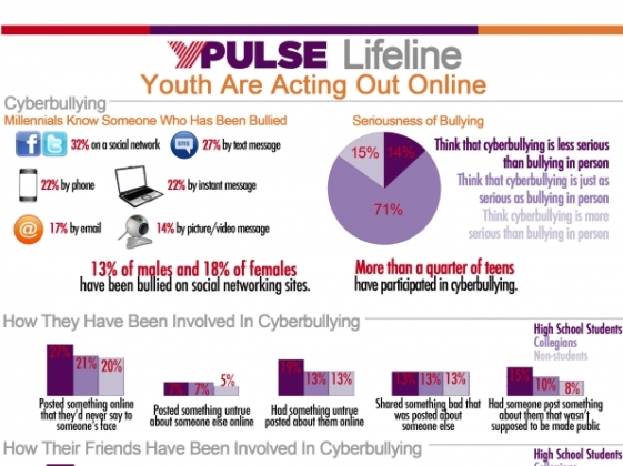 youth and cyberbullying infographic