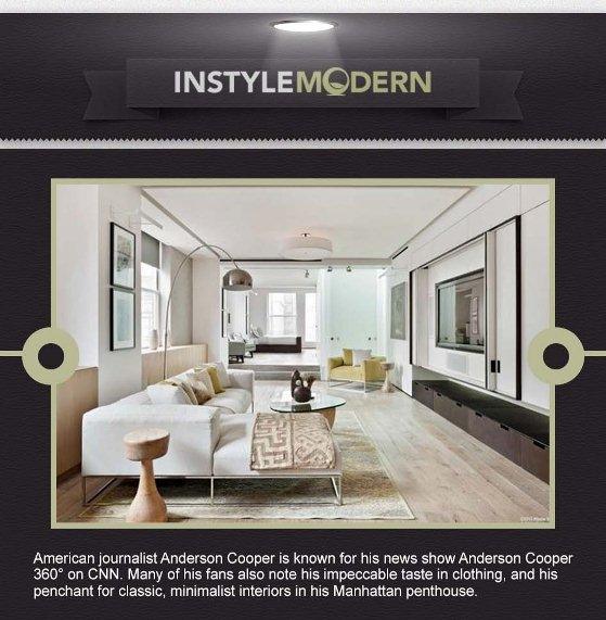 celebrity home style for less anderson cooper's living room 1