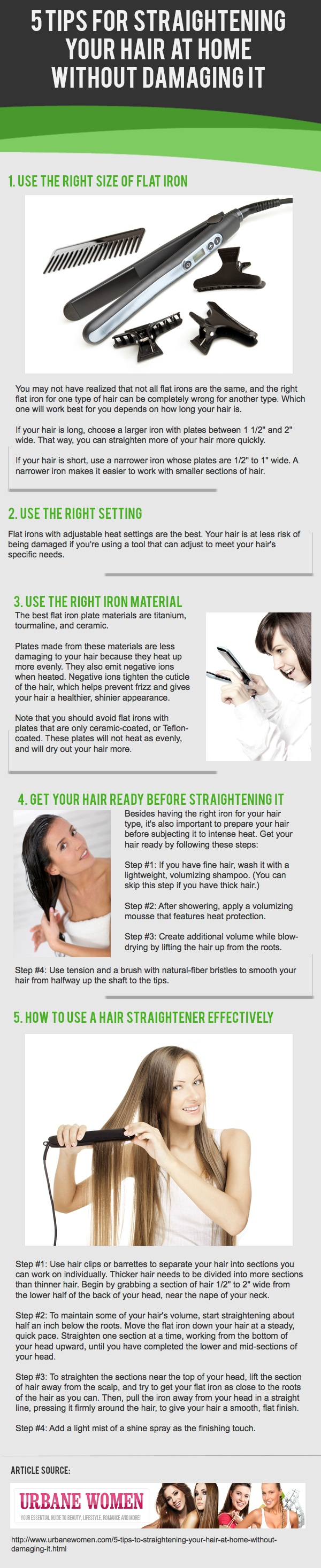 5 Tips for Straightening Your Hair At Home without ...