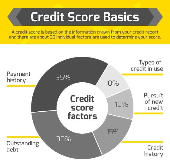 Credit Score Basics (Infographic)
