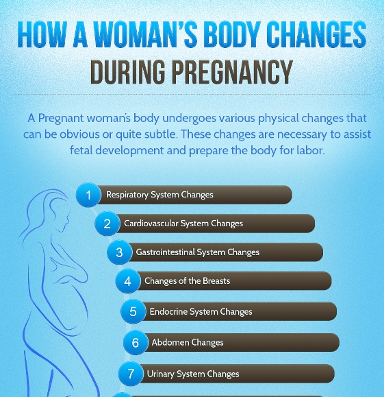 body changes in women due to pregnancy 1