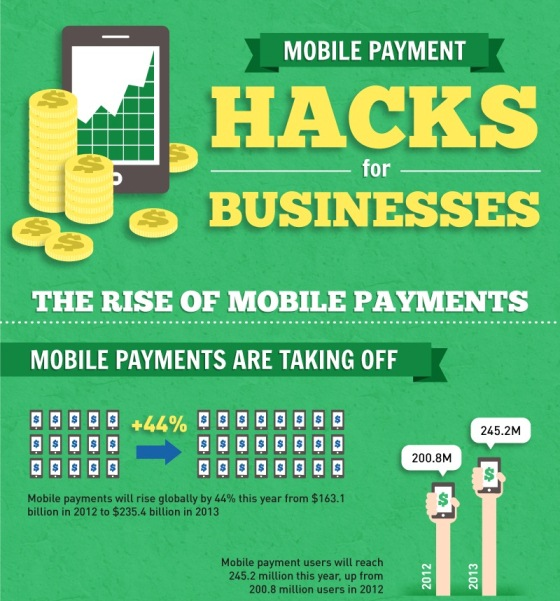 Mobile Payment Hacks for Businesses (Infographic)