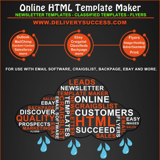 Online HTML Template Maker for Email Marketing and Classified Ad Posting (Infographic)