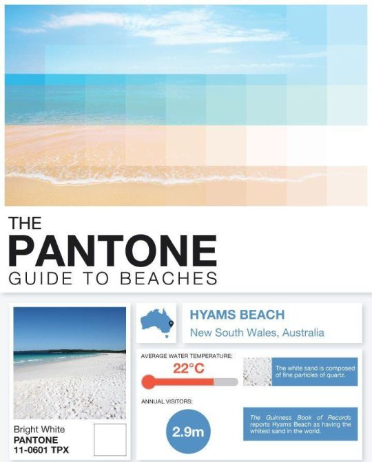 The Cheapflights' Pantone Guide to Beaches