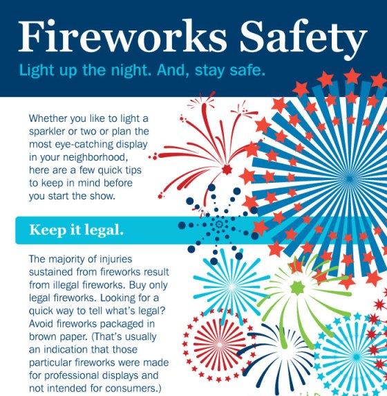 Top 5 Fireworks Infographics