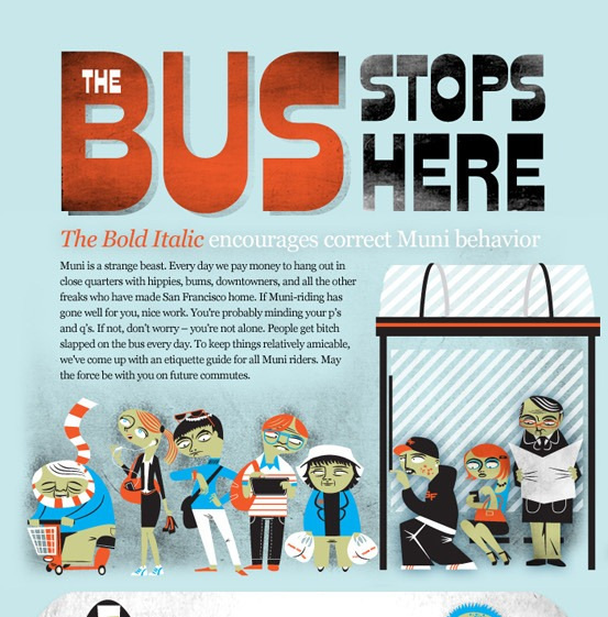 the bus stops here  1