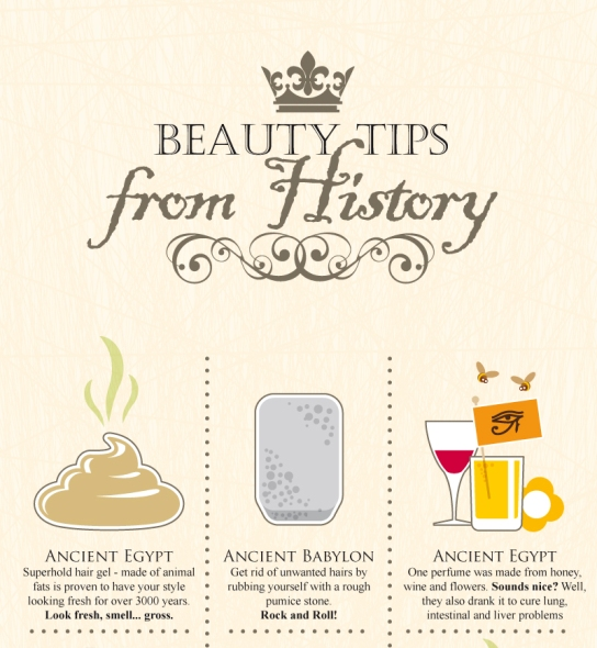 Beauty tips infographic in order